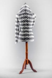 Pattern for knitted sweater back view hood