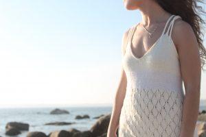 Model wearing the Kismet Knits Estella Dress